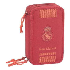 Estojo Triplo Real Madrid C.F. Vermelho (41 Peças)