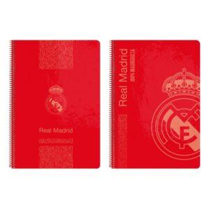 Caderno de Argolas Real Madrid C.F. Vermelho A4