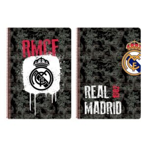 Caderno de Argolas Real Madrid C.F. Preto A4