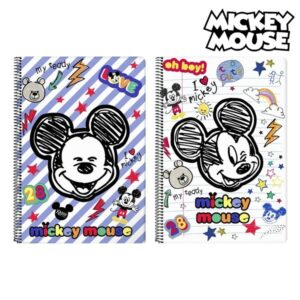 Caderno de Argolas Mickey Mouse Vermelho Multicolor A4