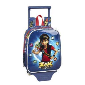 Mochila Escolar com Rodas 805 Zak Storm Captain Azul Marinho