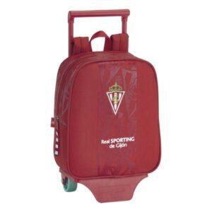 Mochila Escolar com Rodas 805 Real Sporting de Gijón Vermelho