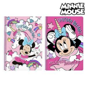 Caderno de Argolas Minnie Mouse Cor de Rosa A4