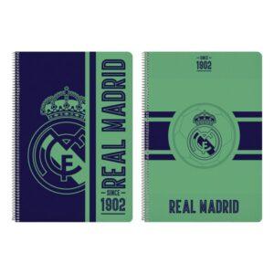 Caderno de Argolas Real Madrid C.F. Verde A4