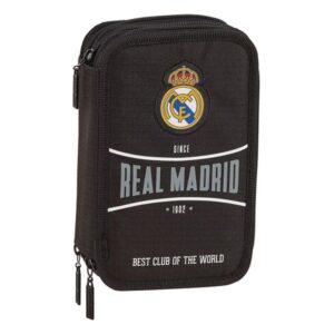 Estojo Triplo Real Madrid C.F. Preto (41 Peças)