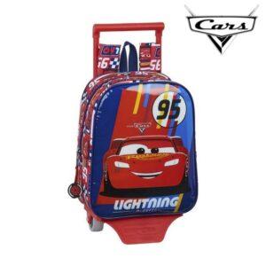 Mochila Escolar com Rodas 805 Cars Racing Block Vermelho
