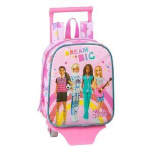 Mochila Escolar com Rodas 805 Barbie Dreamer
