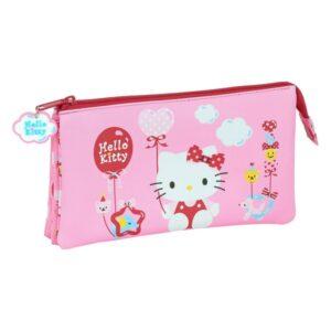 Estojo Hello Kitty Cor de Rosa