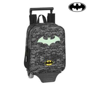 Mochila Escolar com Rodas 805 Batman Nigth Preto Cinzento