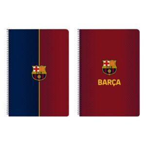 Caderno de Argolas F.C. Barcelona A4 Grená Azul Marinho