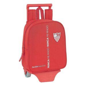 Mochila Escolar com Rodas 805 Sevilla Fútbol Club Vermelho