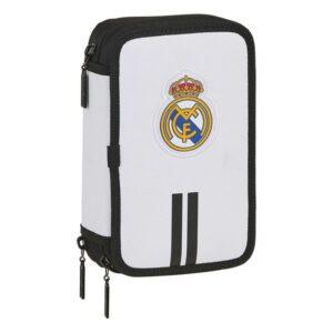 Estojo Triplo Real Madrid C.F. Branco Preto (36 Peças)