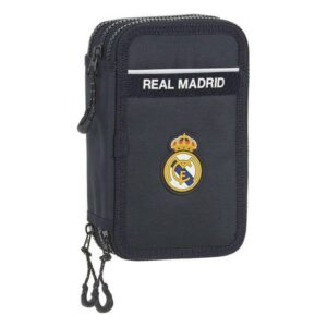 Estojo Triplo Real Madrid C.F. Azul Marinho (36 Peças)