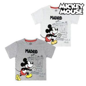Camisola de Manga Curta Infantil Madrid Mickey Mouse Cinzento 5 anos