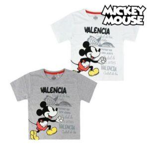 Camisola de Manga Curta Infantil Valencia Mickey Mouse Branco 5 anos