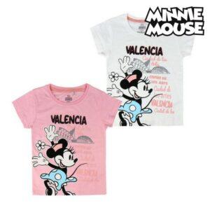 Camisola de Manga Curta Infantil Valencia Minnie Mouse Cor de Rosa 6 anos