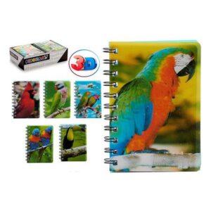 Caderno de Argolas Papagaio 3D A6