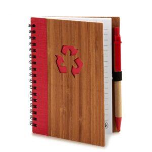 Caderno de Argolas com Caneta 3 Cores (1 x 16 x 12 cm)