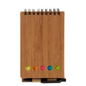 Caderno com Argolas de Bambu com Caneta (1 x 15 x 9 cm)