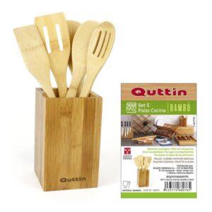 Conjunto de 5 Utensílios para Cozinha Bambu