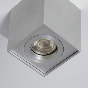 Luz de Teto LED Ledkia Prata 50 W (83 x 83 x 110 mm)