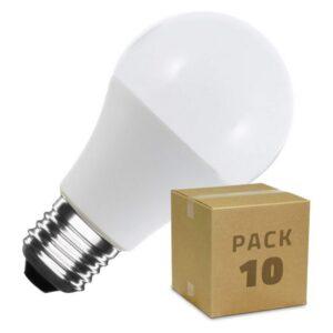 10 Lâmpadas LED Ledkia A60 - 7 W 510 Lm (Branco Quente 2800K - 3200K)