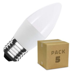 10 Lâmpadas LED Ledkia C37 - 5 W 400 Lm (Branco Quente 2800K - 3200K)