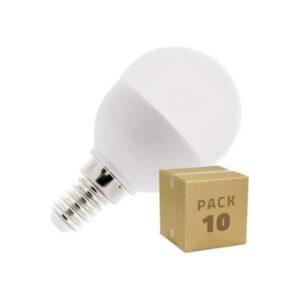 10 Lâmpadas LED Ledkia G45 - 5 W 400 Lm (Branco frio 6000K - 6500K)