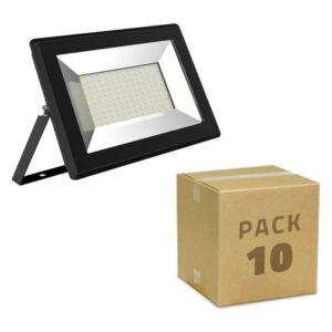 10 Holofotes LED Ledkia Solid  A+ 10W 1000 Lm (Branco frio 6000K)