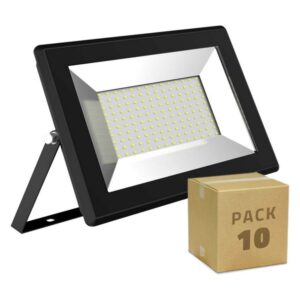 10 Holofotes LED Ledkia Solid (10 uds) A+ 50W 5000 Lm (Branco quente 3000K)
