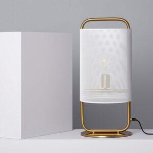 Lâmpada de Mesa Ledkia Altura E27 Dourado 60 W