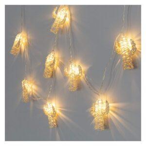 Grinalda de Luz LED Ledkia Catos Sem Fios Natural (2 m)