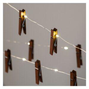 Grinalda de Luz LED Ledkia 1,2 m Sem fios (Branco Quente 2700K - 3000K)