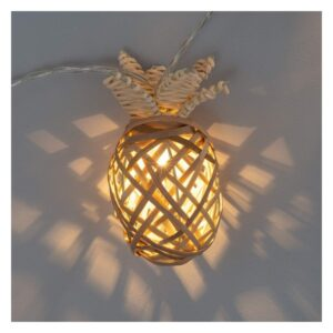 Grinalda de Luz LED Ledkia Abacaxi Sem fios Natural (1,9 m)