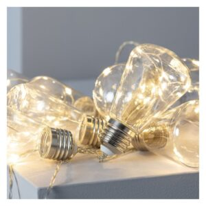 Grinalda de Luz LED Ledkia Edison 2m Sem fios (Branco Quente 2700K - 3000K)