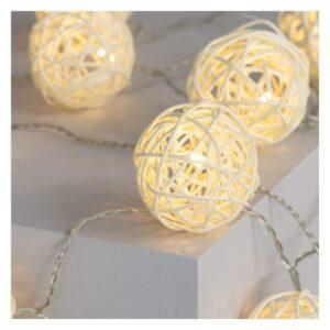 Grinalda de Luz LED Ledkia Bhala 1,6 m Sem fios (Branco Quente 2700K - 3000K)