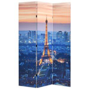 Biombo dobrável Paris à noite 120x170 cm - PORTES GRÁTIS