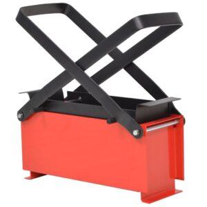 Prensa de briquetes de papel em aço 34x14x14 cm preto/vermelho - PORTES GRÁTIS