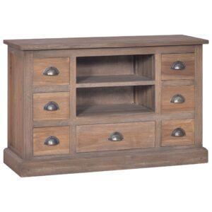 Aparador 90x30x58 cm madeira de teca maciça - PORTES GRÁTIS