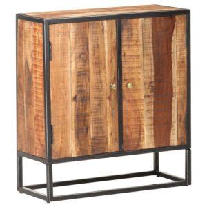 Aparador 70x30x75 cm madeira de acácia áspera  - PORTES GRÁTIS