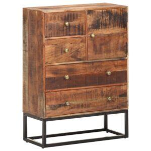 Aparador 65x30x90 cm madeira de acácia áspera  - PORTES GRÁTIS