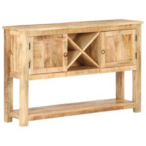 Aparador 120x30x76 cm madeira de mangueira áspera - PORTES GRÁTIS