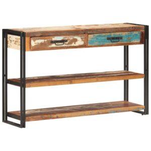 Aparador 120x30x75 cm madeira recuperada maciça - PORTES GRÁTIS