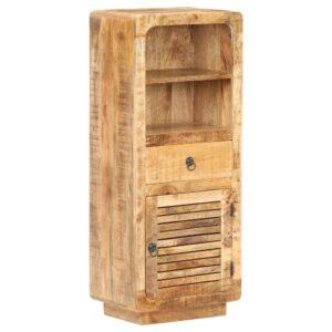 Armário alto 45x32x110 cm madeira de mangueira áspera - PORTES GRÁTIS
