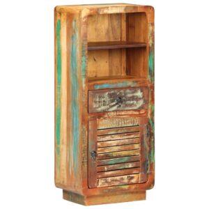 Armário alto 45x32x110 cm madeira recuperada maciça - PORTES GRÁTIS