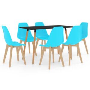7 pcs conjunto de jantar azul - PORTES GRÁTIS