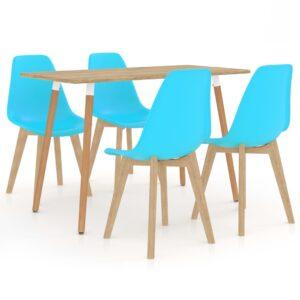 5 pcs conjunto de jantar azul - PORTES GRÁTIS