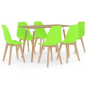 7 pcs conjunto de jantar verde - PORTES GRÁTIS