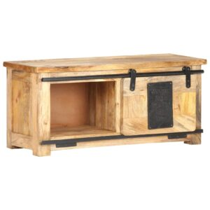 Móvel de TV 90x35x40 cm madeira de mangueira maciça  - PORTES GRÁTIS