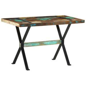 Mesa de jantar 120x60x76 cm madeira recuperada maciça - PORTES GRÁTIS